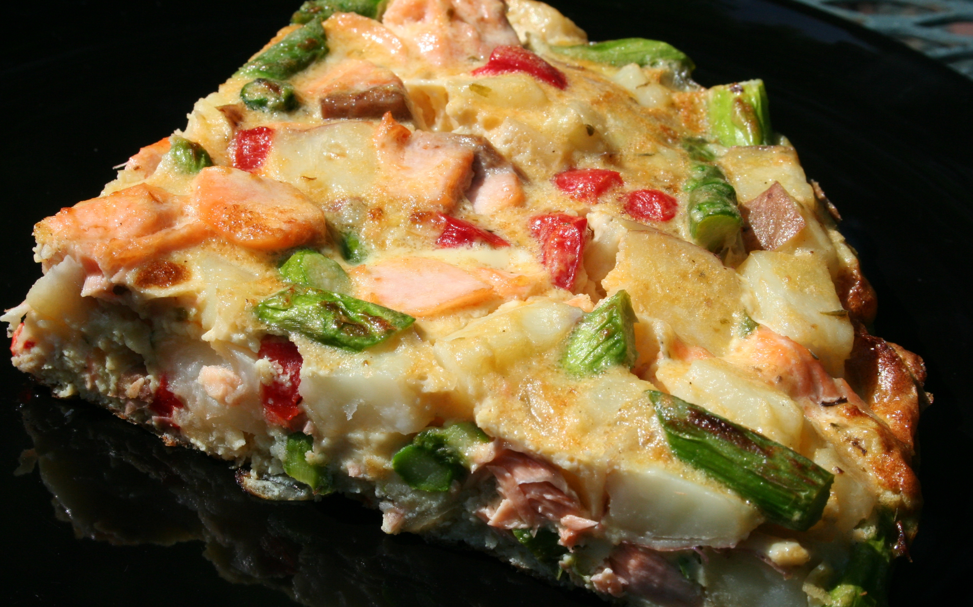 Salmon-Sausage Frittata Recipe — Dishmaps