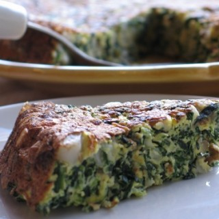 Spinach, Potato and Cream Cheese Frittata