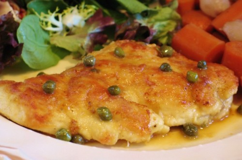 Chicken with Lemon Butter Sauce and Capers