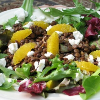 Lentil, Orange and Goat Cheese Salad