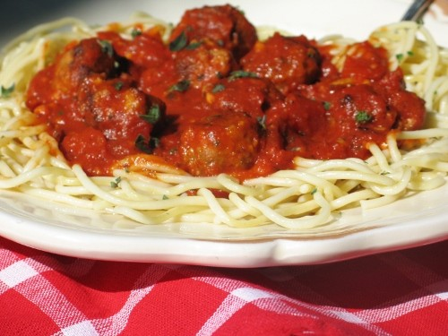Spaghetti and (Turkey) Meatballs