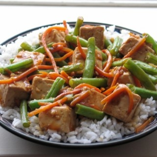 Tofu and Green Bean Stir Fry