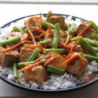 Tofu and Green Bean Stir Fry