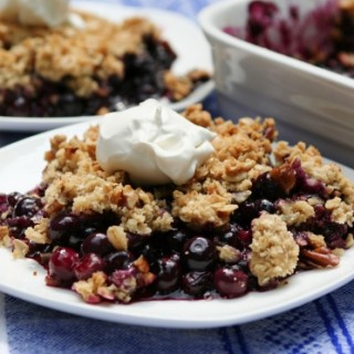 Blueberry Crisp for My Dad