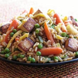 Tofu and Vegetable Stir Fried Rice