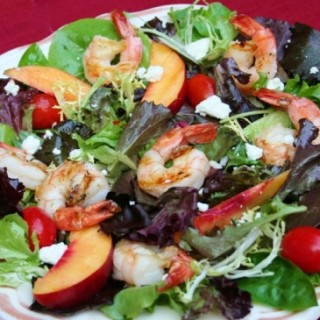 Farmstand Salad with Shrimp and Feta