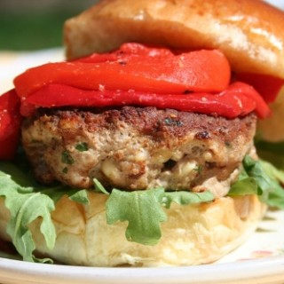 Feta Mint Turkey Burgers
