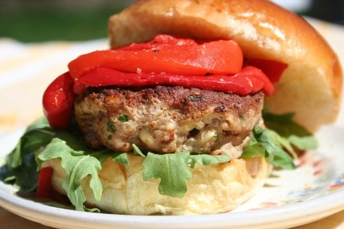 This simple burger is full of robust Mediterranean flavor– but low ...