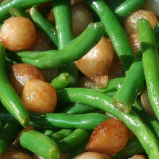 Green Beans and Balsamic Glazed Onions