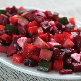 How to Roast Beets and a Roast Beet, Feta, Cucumber and Bell Pepper Salad Recipe