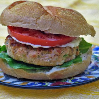 Latino Flavored Salmon Burgers