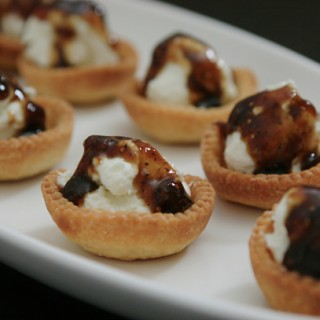 Goat Cheese Tartlets with Fig-Balsamic Drizzle:  A Fast and Easy Appetizer