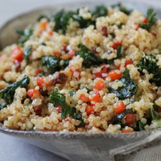 Quinoa with Kale and Sun Dried Tomato (Whether or Not You're Gluten Free)