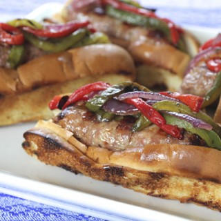 Grilled Sausage, Onions and Peppers