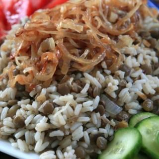 Mujadara: Lebanese Lentils and Rice