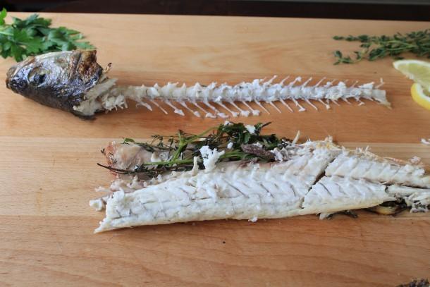 Setting aside the fish skeleton