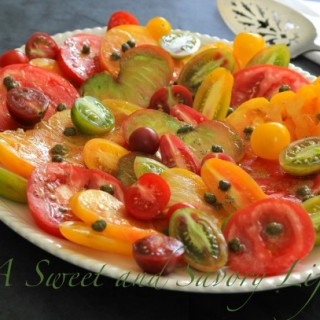The Last of the Summer Tomatoes (with a Caper Vinaigrette)