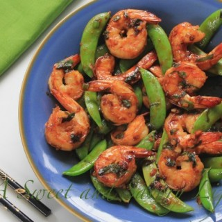 Superfast Dinner: Shrimp and Sugar Snaps in Hoisin Sauce
