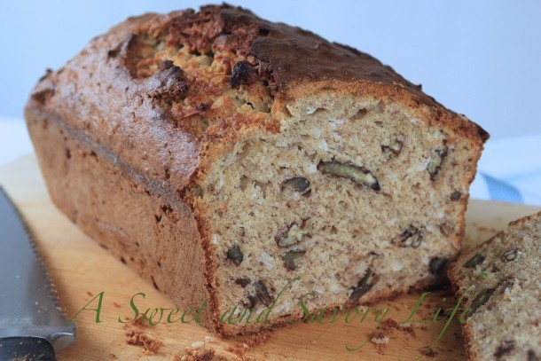 Marge Perry's Banana Bread with Coconut and Pecans
