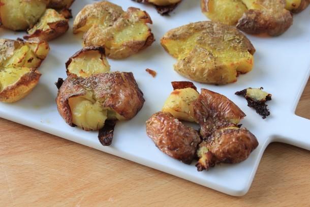Roast Smashed Potatoes