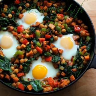 Dinner Under 300 Calories: Sweet Potato, Chickpea and Egg Hash (Plus: How to Dice a Potato)