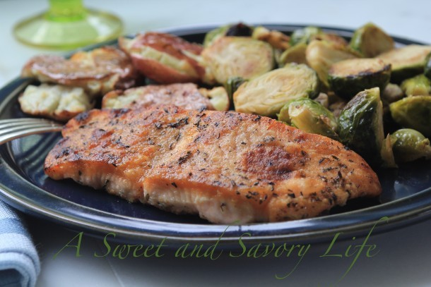 Marge Perry's Superfast Herb Crusted Salmon