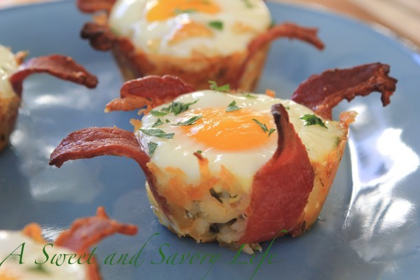 Marge Perry's Bacon and Hash Brown Eggles