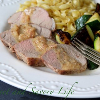Pork Tenderloin with Mustard Shallot Sauce