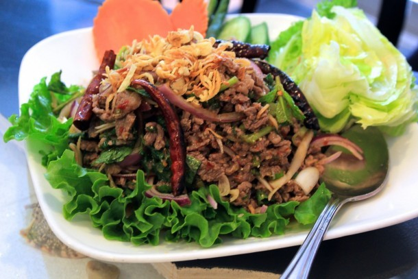 Beef larb at Chao Thai