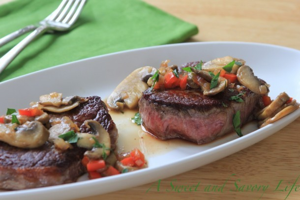 Marge Perry's Filet Mignon with Marsala Sauce
