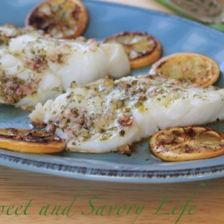 Greek Cod with Roasted Lemon (In 20 Minutes!)