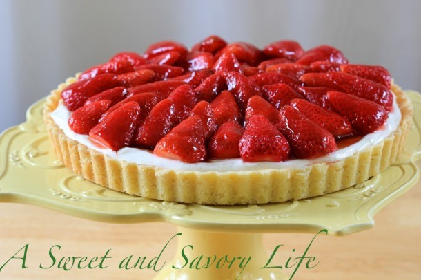 Marge Perry's Strawberry Cheesecake Tart