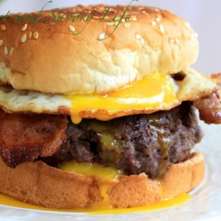 Moo, Cluck and Oink Burger