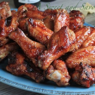 Grilled Raspberry Sriracha Wings