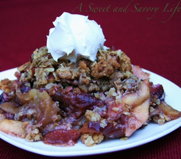 Marge Perry's Apple Plum Crisp
