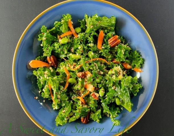 Kale, Quinoa and Edamame Salad