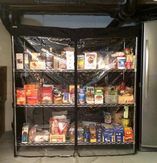 Pantry storage during renovation