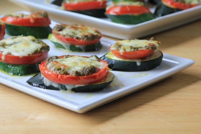 Zucchini Pesto Stacks
