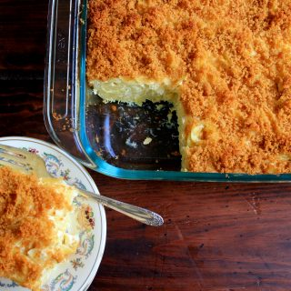Noodle Kugel with Graham Cracker Crust