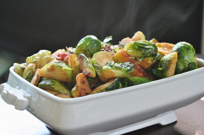 Do Ahead Brussels Sprouts with Bacon