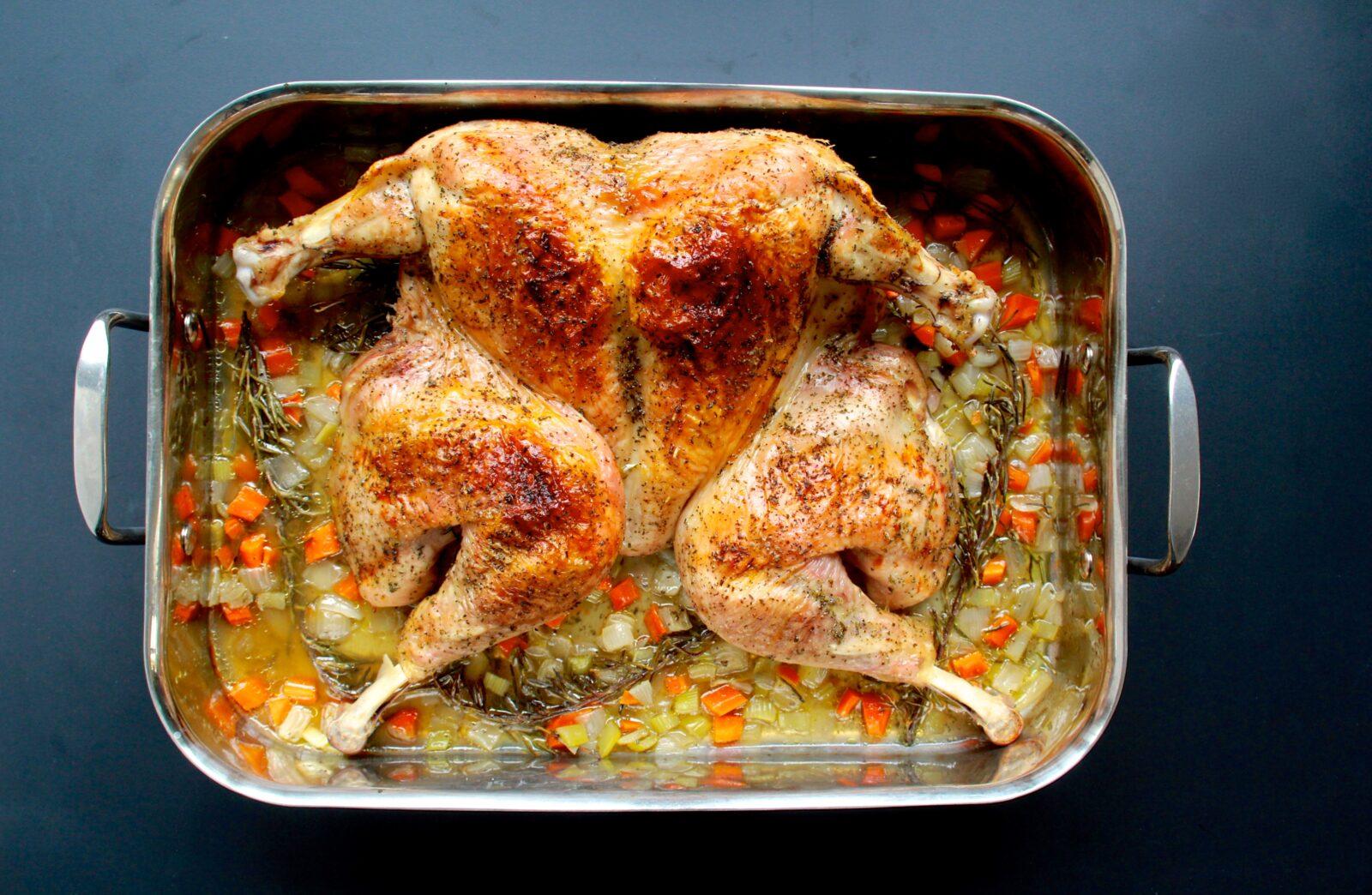 Rosemary Thyme Spatchcock Roast Turkey