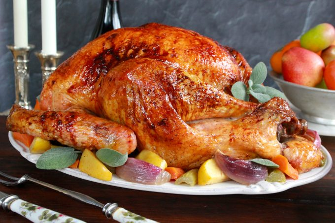 Cider Bourbon Glazed Turkey