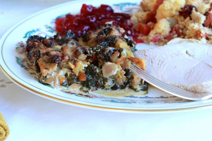 Kale and Onion Gratin