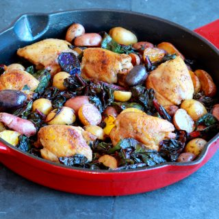 Chicken, Potato and Chard Skillet Supper