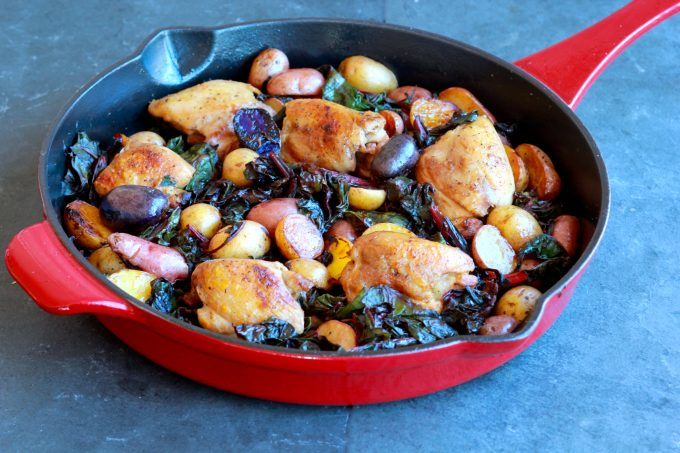 Chicken, Potato and Chard Skillet