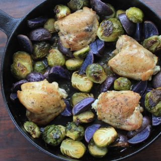 Lemon Chicken, Brussels Sprouts and Potato Skillet: Dinner under 400 Calories
