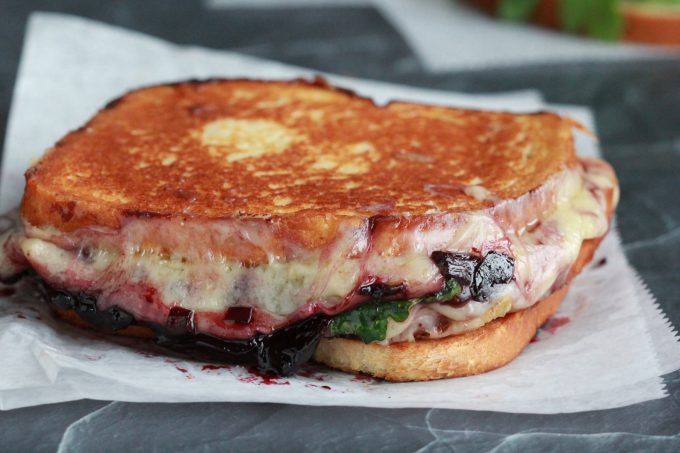 Grilled Cheese and Cherry Wine Spread