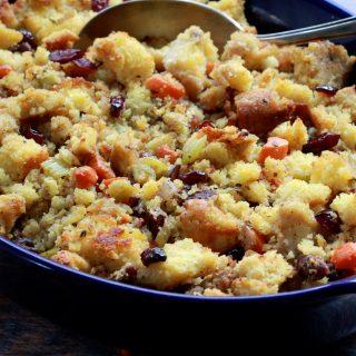 Cornbread, Cranberry and Walnut Stuffing